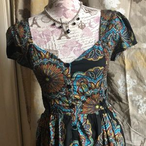 Band of Gypsies black paisley dress